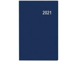 Kapesní týdenní diář Gustav PVC 2021, 8x12 cm - modrá