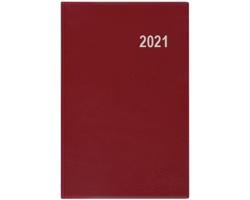 Kapesní týdenní diář Gustav PVC 2020, 12x8cm - bordó