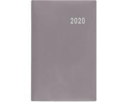 Kapesní týdenní diář Gustav PVC 2020, 12x8cm - šedá