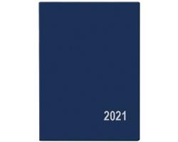 Kapesní týdenní diář Hynek PVC 2021, 6x8 cm - modrá
