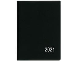 Kapesní týdenní diář Hynek PVC 2021, 6x8 cm - černá