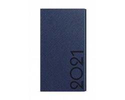 Kapesní týdenní diář Jakub Tora 2020, A6 - modrá