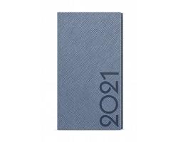 Kapesní týdenní diář Jakub Tora 2020, A6 - modro-šedá