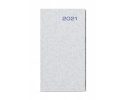 Kapesní týdenní diář Jakub Saturn 2020, A6 - stříbrná