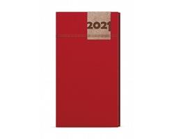 Kapesní týdenní diář Jakub Denim 2020, A6 - červená