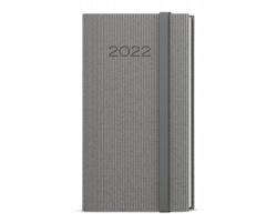 Kapesní týdenní diář Jakub Vigo 2022, A6 - šedá