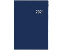 Kapesní týdenní diář Ladislav PVC 2021, 7x10 cm - modrá