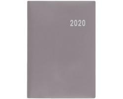 Kapesní týdenní diář Ladislav PVC 2020, 10x7cm - šedá