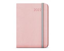 Týdenní diář Zoro Flexi 2022, A5 - pastelová růžová