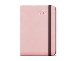 Týdenní diář Zoro Flexi 2021, A5 - pastelová růžová