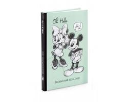 Kapesní týdenní diář Disney Mickey a Minnie 2021 školní, 10x16 cm