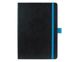 Denní diář Nero 2020, A5 - černá / modrá