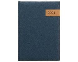 Denní diář Denim 2021, A5 - modrá