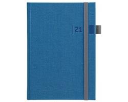Denní diář Tweed 2021, A5 - modrá