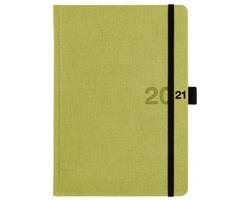 Denní diář Canvas 2021, A5 - zelená
