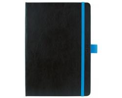 Týdenní diář Nero 2021, A5 - černá / modrá