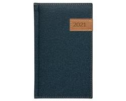 Kapesní týdenní diář Denim 2021, 9x15 cm - modrá