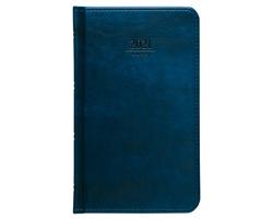 Kapesní týdenní diář Atlas 2021, 9x15 cm - modrá