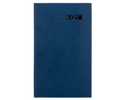 Kapesní týdenní diář Viva 2021, 9x15 cm - modrá