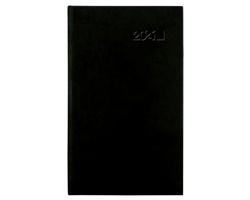 Kapesní týdenní diář Viva 2021, 9x15 cm - černá
