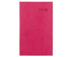 Kapesní týdenní diář Viva 2021, 9x15 cm - růžová
