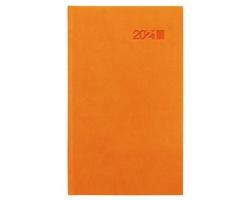 Kapesní týdenní diář Viva 2021, 9x15 cm - oranžová