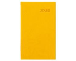Kapesní týdenní diář Viva 2021, 9x15 cm - žlutá