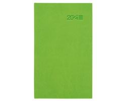 Kapesní týdenní diář Viva 2021, 9x15 cm - zelená