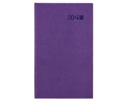 Kapesní týdenní diář Viva 2021, 9x15 cm - fialová