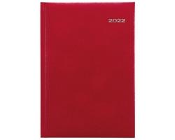 Denní diář Kronos 2022, A5 - červená