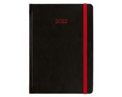 Denní diář Neon 2022, A5 - černá / červená