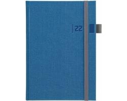Týdenní diář Tweed kombinovaný 2022, A5 - modrá