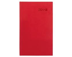 Kapesní týdenní diář Viva 2022, 9x15 cm - červená