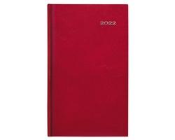 Kapesní týdenní diář Kronos 2022, 9x15 cm - červená