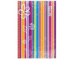 Poznámkový notes Stripes čtverečkovaný, A4