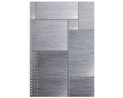 Poznámkový notes Steel čtverečkovaný, A4 - šedá