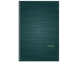 Poznámkový linkovaný notes Job, A4 - zelená