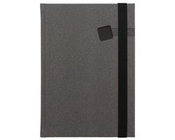 Poznámkový notes Mambo čtverečkovaný, A5 - černá