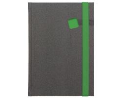 Poznámkový notes Mambo čtverečkovaný, A5 - zelená