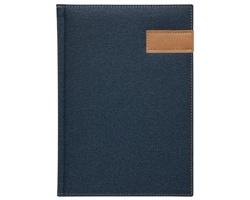 Poznámkový notes Denim čtverečkovaný, A5 - modrá