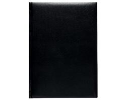 Poznámkový notes Kronos čtverečkovaný, A5 - černá