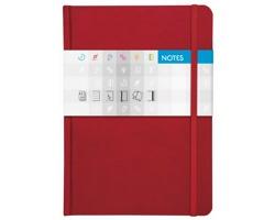 Poznámkový čtverečkovaný notes Saturn, A5 - červená