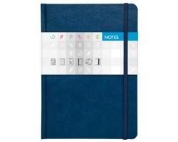Poznámkový linkovaný notes Saturn, A5 - modrá