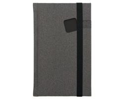 Poznámkový notes Mambo čtverečkovaný, 9x15 - černá