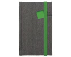 Poznámkový notes Mambo čtverečkovaný, 9x15 - zelená