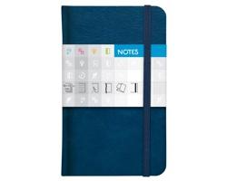 Poznámkový čtverečkovaný notes Saturn, 9x15cm - modrá