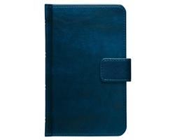 Poznámkový notes Atlas linkovaný s poutkem, 9x15 - modrá