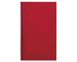 Poznámkový notes Kronos linkovaný, 9x15 - červená