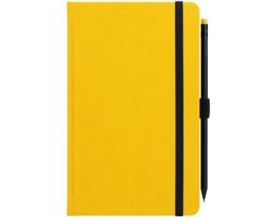 Poznámkový linkovaný notes G-Notes No.1, 13x21 cm - žlutá