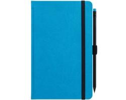 Poznámkový linkovaný notes G-Notes No.1, 13x21cm - modrá
